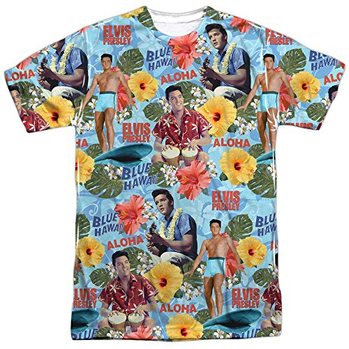 Elvis Presley Sideburns (Elvis Presley - Surf's Up T-Shirt Size)