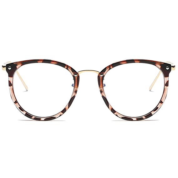 19a321845195 SOJOS Round Women Eyeglasses Fashion Eyewear Optical Frame Clear Glasses  SJ5969 With Havana Brown Frame