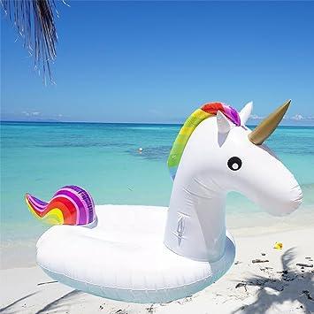 Inflable Gigante de Unicornio Flotador de Helado para piscina,balsa de la fiesta de la piscina, colchón de aire inflable del PVC Piscina La cama flotante: ...