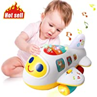 Huile Baby Toys Electronic Airplane Toys with Lights & Music ,Best Kids Early Learning Educational Toys for Toddlers Boys and Girls 1 2 3 4 5 Year Old Gifts