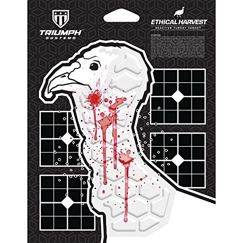 Ethical Harvest Turkey Silhouette | 3-Pack | Wild Turkey Target | Turkey Target | Patterning Target | Sight-In Target | Turkey Shoot Targets
