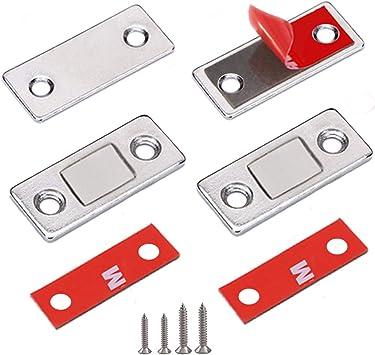 4x Möbelmagnet Starker Türmagnet Magnetverschluss Magnetschnapper für Schranktür