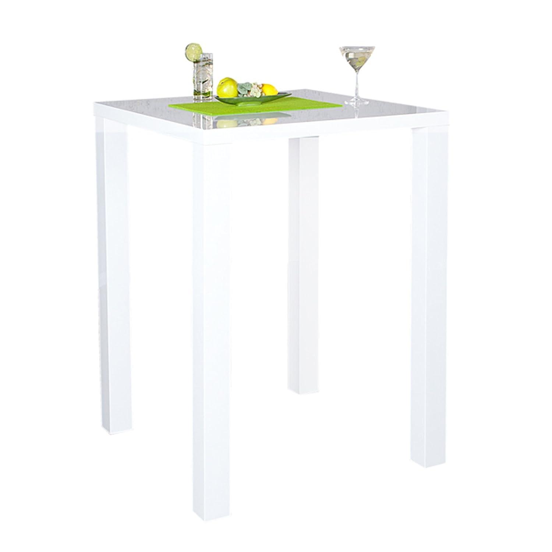 DuNord Design Design Design Design Bartisch Bistrotisch LUCENTE hochglanz weiss 80x80x105cm 109367