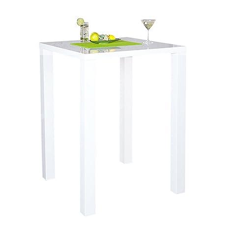 Bartisch Bistrotisch.Design Bartisch Bistrotisch Lucente Hochglanz Weiss 80x80x105cm