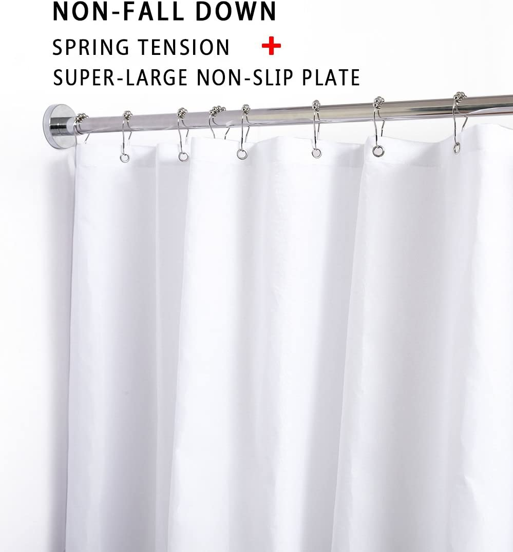 BRIOFOX Tension Curtain Rods 27-42 Inches, Never Rust And