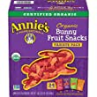 Annie s Organic Bunny Fruit Snacks, Variety Pack, 24 Pouches, 0.8 oz Each (Packaging may vary)