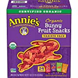 Annie's Organic Bunny Fruit Snacks, Variety Pack, 24 Pouches, 0.8 oz Each (Packaging may vary)