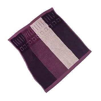 Toallas de algodón zhenxinmei Hi-Lo - Pile Barra de color oscuro color amante del guante manopla, diseño geométrico, suave absorber agua elegante Durable ...