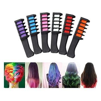 Weiyun Diy Hair Chalk Spa Christmas Birthday Gifts Girl Kids Crayons Hair Decor Temporary Comb Non Toxic Safe Washable Hair Dye Powder With