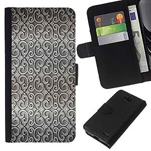All Phone Most Case / Oferta Especial Cáscara Funda de cuero Monedero Cubierta de proteccion Caso / Wallet Case for LG OPTIMUS L90 // Wallpaper Design Interior Grey Wallpaper