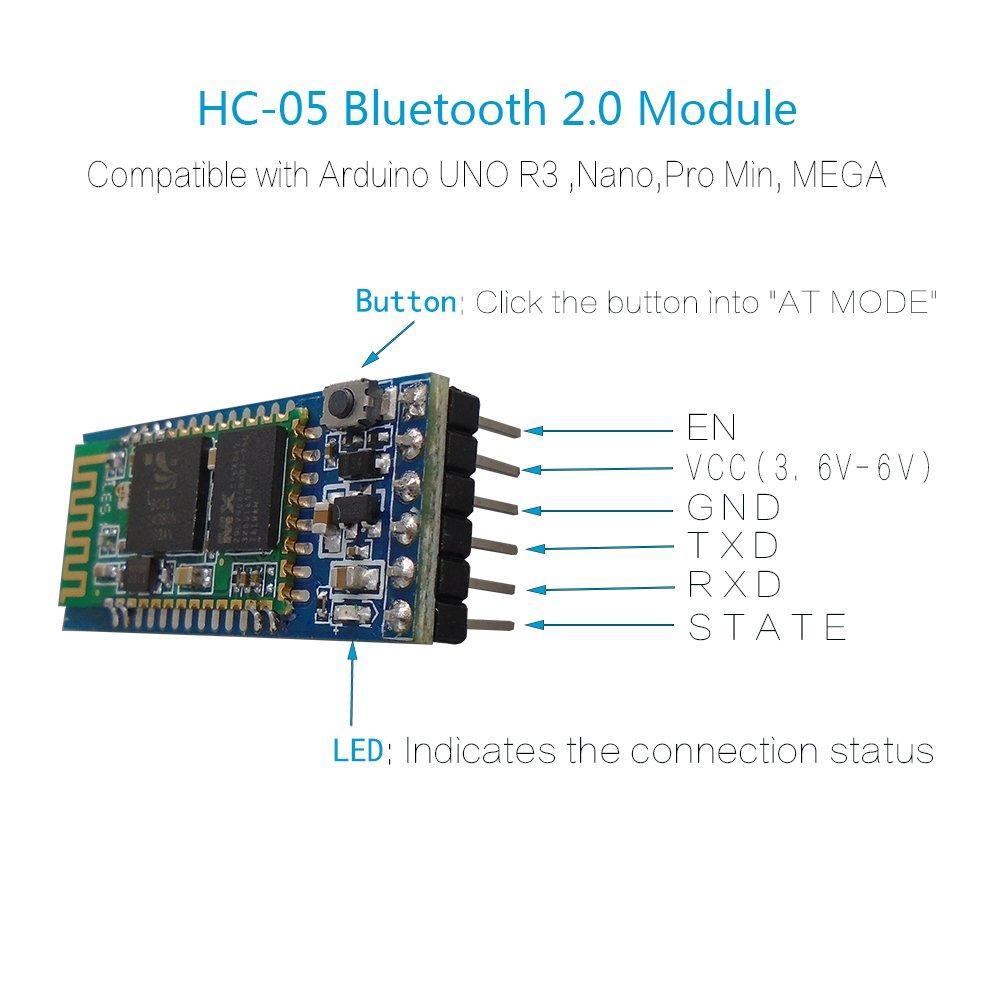 Amazon DSD TECH HC05 Classic Bluetooth 20 Serial Wireless – Kedsum Bluetooth Wiring Diagram
