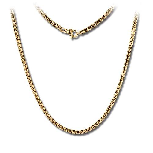 Amello Coins Cadena Mujer Cadena de acero inoxidable de 50 ...