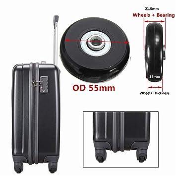 Negro Repuesto Equipaje/Inline Skate ruedas con exterior 608ZZ Rodamientos: Amazon.es: Deportes y aire libre