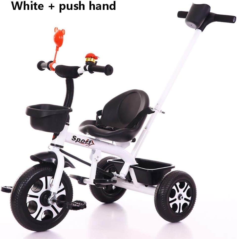 HJFGIRL Triciclos Bebes 1-6 Año, Triciclo Plegable Bicicletas Estaticas BH con Se Pueden Seleccionar 3 Tipos de Neumáticos, la Carga de 25 KG es Muy Adecuada para Caminos de Grava