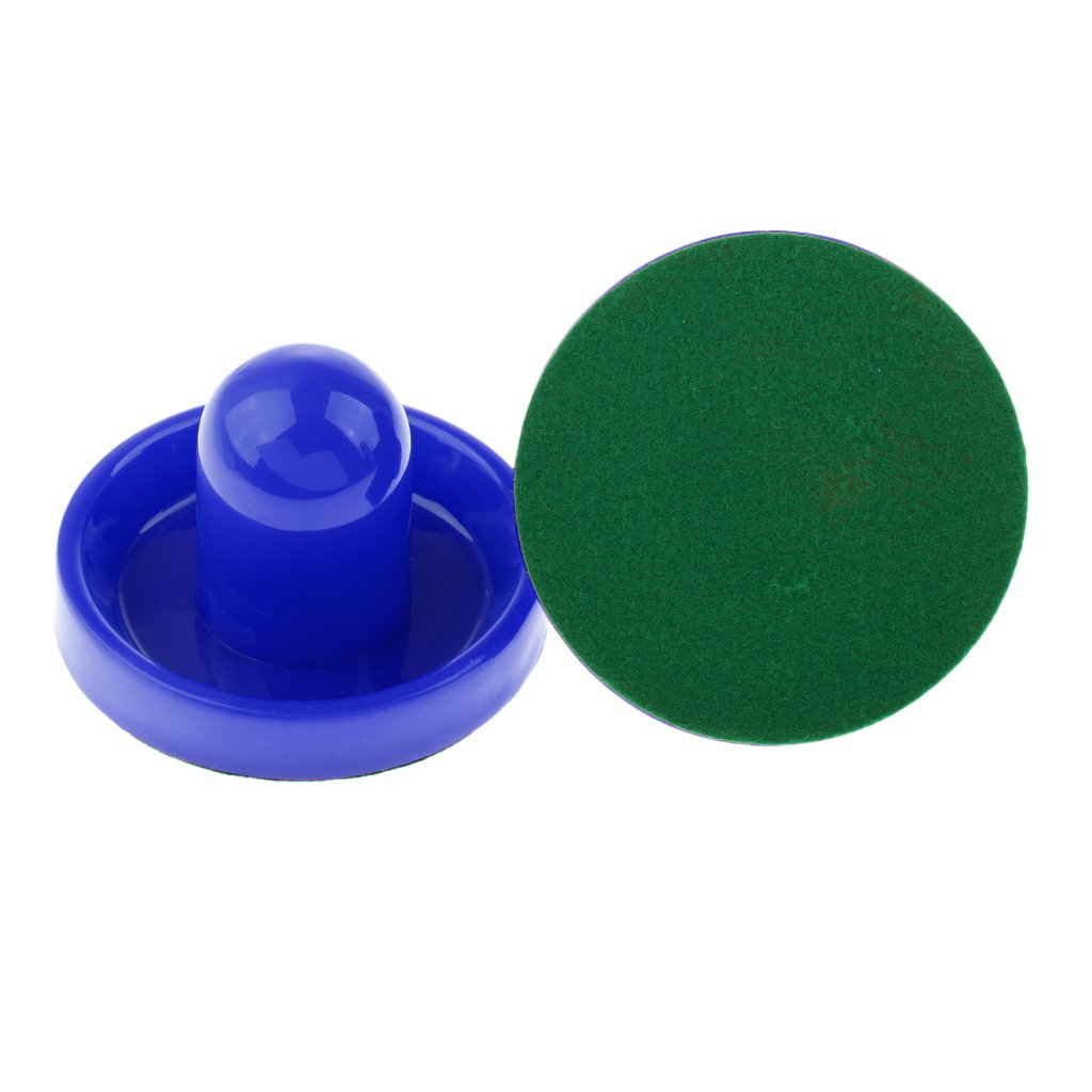 Sharplace 2 Pieces Replacement Air Hockey Pushers with Felt Bottom - Red, Small