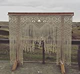 www.knittworld.com Macrame Wall Decor Hanging - Bohemian Home Geometric Art Decor - Beautiful Apartment Dorm Room Decoration-Macrame Curtain-Macrame Wedding Backdrop, W 80 x L 85 Inch