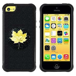 All Phone Most Case / Soft Gel TPU Case Protective Cover / Suave Silicona Blando Estuche Carcasa Funda Caso de protecció Apple Iphone 5C Yellow Maple Leaf