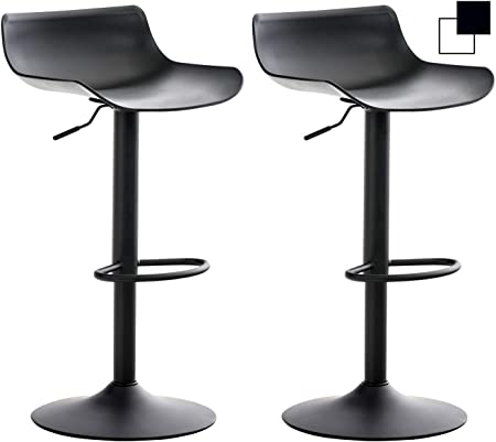 CLP Lot De 2 Tabourets De Bar Aveiro en Plastique I Chaise
