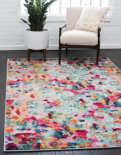 Unique Loom Chromatic Collection Modern Abstract Colorful Kids Multi Area Rug (9' x ()