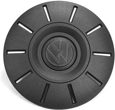 Volkswagen 2n06011519b9 Radzierkappe 1 Stück Radabdeckung 16 Zoll Stahlfelge Nabenkappe Radnabenkappe Satinschwarz Auto