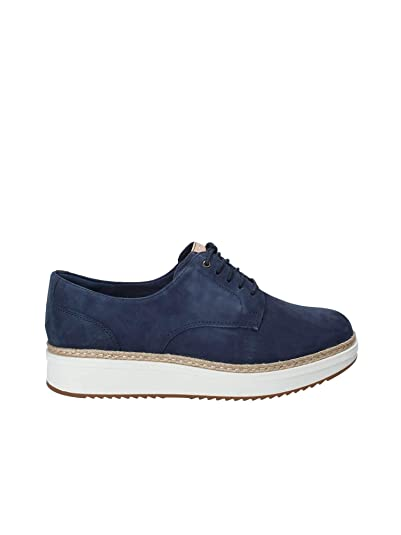 CLARKS Shoes Woman Sneakers with Platform 26133819 TEADALE Rhea Size 40 Blue