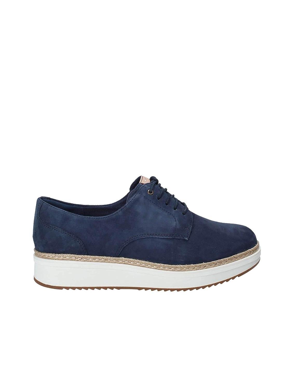 Clarks Schuhe Frau Turnschuhe mit Plattform 26133819 TEADALE Rhea