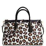 New Authentic COACH New York Ocelot Morgan Large Satchel Convertible Crossbody Shoulder Bag
