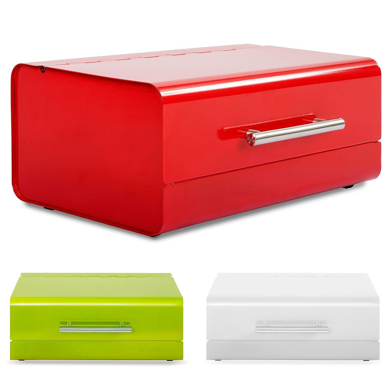 casa pura Rectangular Steel Bread Box, Siya | 3 Colours Available - Lime Green
