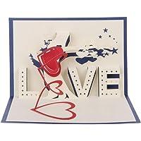 Deendeng - Tarjeta de felicitación 3D con diseño de árbol de amor y corazón para el