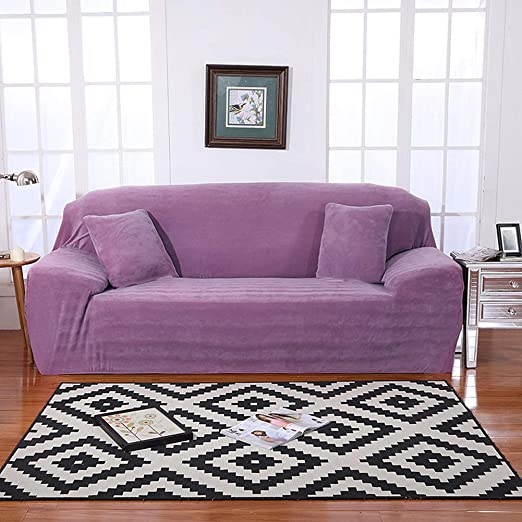 DEEN Fundas de sofá Gruesas de 1 2 3 4 plazas, Color Puro, Ajuste Universal, Tela elástica, Funda de sofá de Terciopelo elástico, Funda de sillón, ...