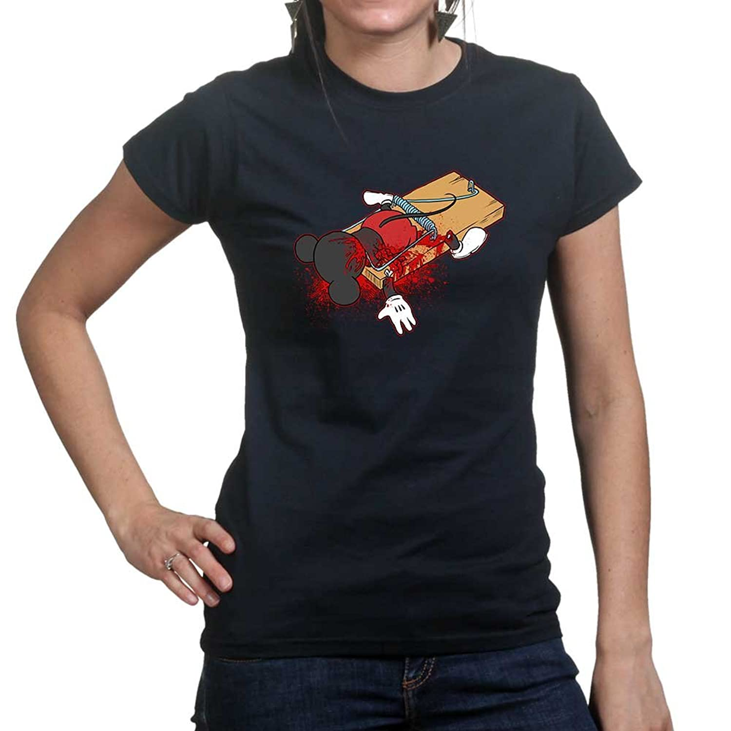 Customised_Perfection Womens Mouse Trap Cartoon Funny Halloween Ladies T  Shirt (Tee, Top): Amazon.co.uk: Clothing