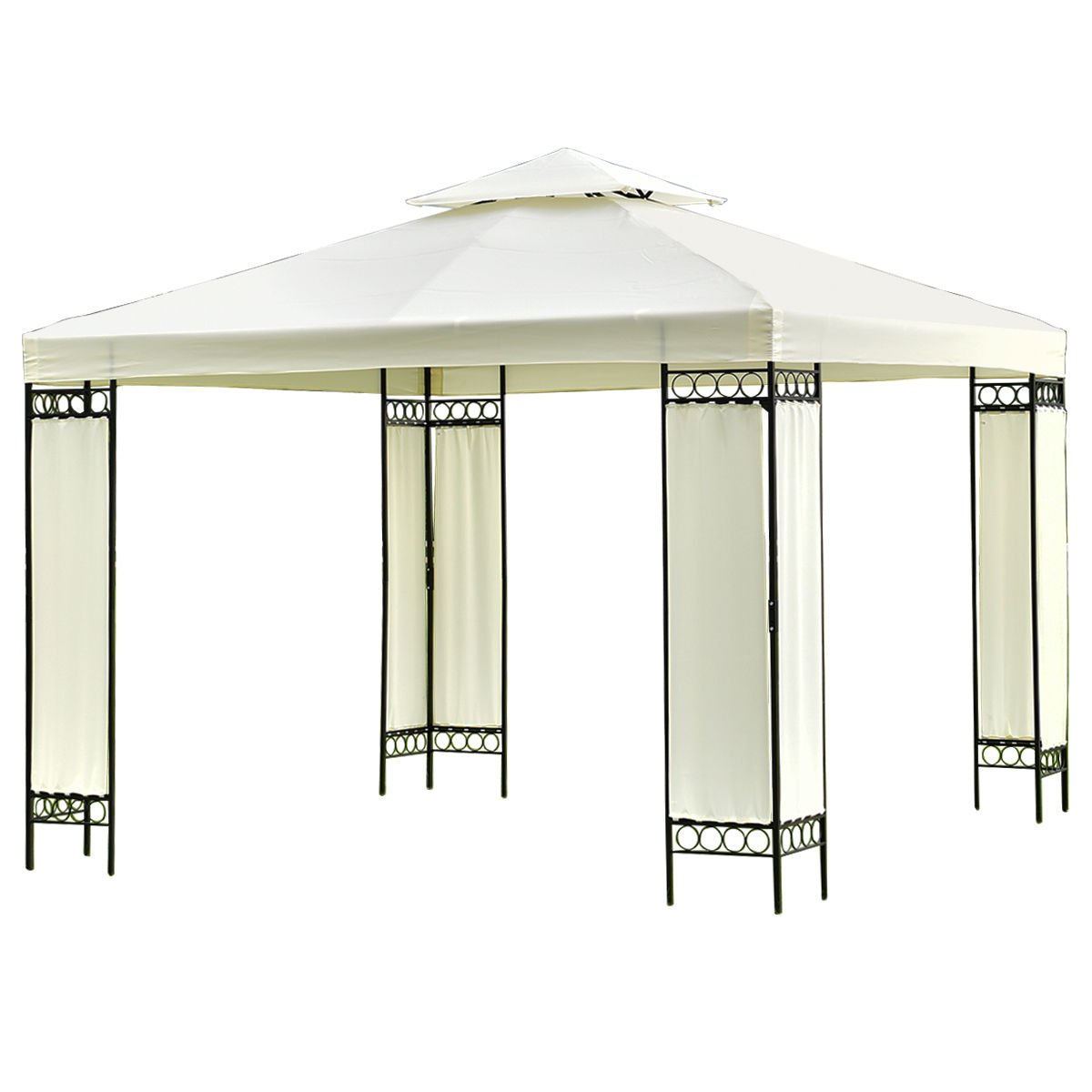 2 Tier 10'x10' Gazebo Canopy Shelter Patio Wedding Party Tent Outdoor Awning New + FREE E-Book