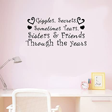 Secrets sometimes tears Sisters and Friends through the years Sticker Giggles
