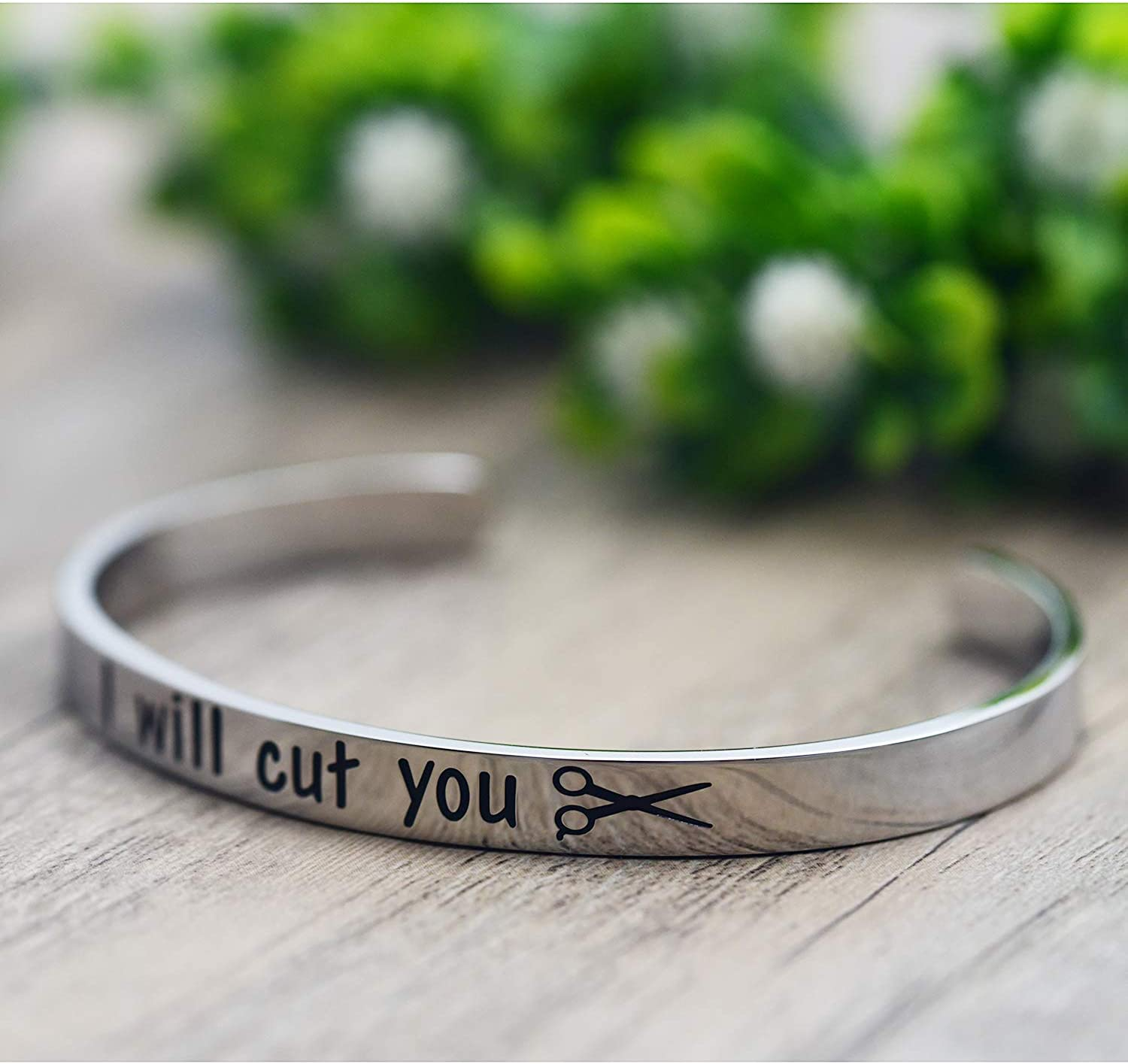 Gift for Stylist Gift for Cosmetology Student Melix Home Cosmetology Graduation Gift 2020 I Will Cut You Keychain Bracelet Enamel Pin Gift for Hairdresser