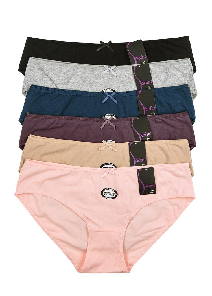 2ND DATE Women's Plus Size Panties Assorted Styles and Colors (Pack of 12)