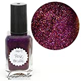 Lynnderella 2017 Christmas Advent Nail Polish Magenta Violet Shimmerella—December 6-Rose Brulée