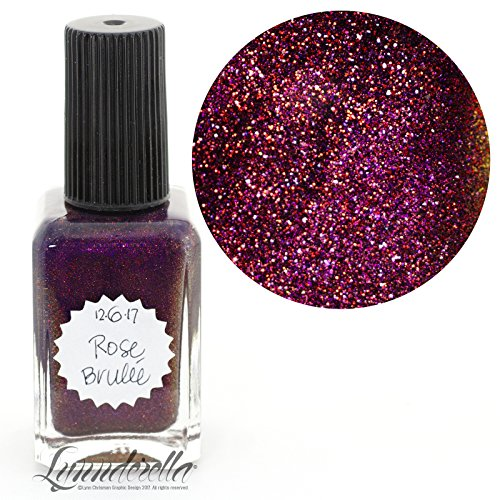 Lynnderella 2017 Christmas Advent Nail Polish Magenta Violet Shimmerella—December 6-Rose Brulée by Lynnderella