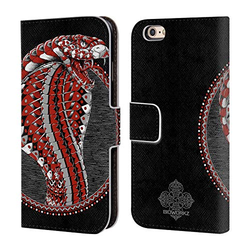 Official Bioworkz Ornate Cobra Coloured Venom Leather Book Wallet Case Cover for iPhone 6 / iPhone 6s