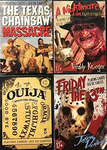NMR Aquarius Friday The 13th, Texas Chainsaw Massacre, Nnightmare on Elm St, Ouija Playing Card Set]()