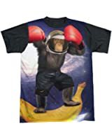 Black Back: Monkey Boxing Space Astronaut T-Shirt