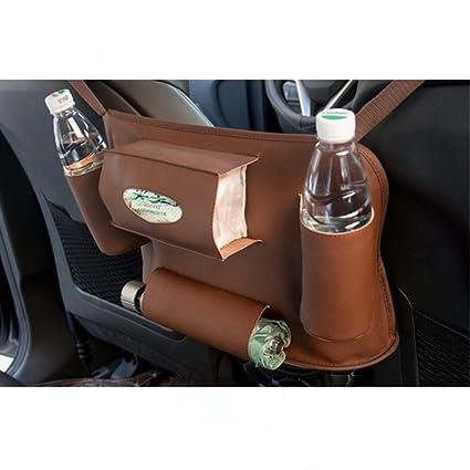 TUTU-C Bolsa de piel universal para asiento de coche, bolsa ...