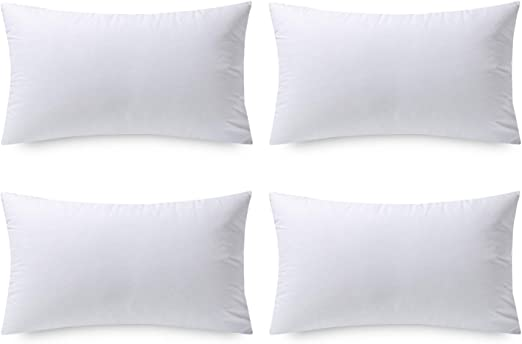 Amazon Com Phantoscope 12 X 20 Pillow Inserts Set Of 4 Hypoallergenic Square Form Decorative Throw Pillow Inserts Couch Sham Cushion Stuffer 12 X 20 Inches Kitchen Dining