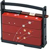 JapanBargain Sakura Lunch Bento Box #06423, 3 Tier