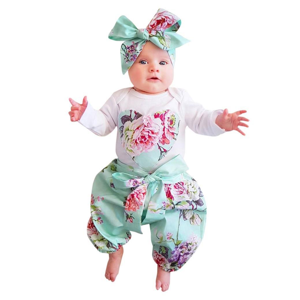FRYS vetements bebe fille hiver ensemble bebe garcon naissance printemps chemise manteau fill pas cher blouse Pyjama fille t shirt haut combinaison body + pantalons + Bandeau Sweat Shirt