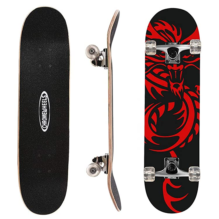 ChromeWheels 31 inch Skateboard Complete Longboard Double Kick Skate Board