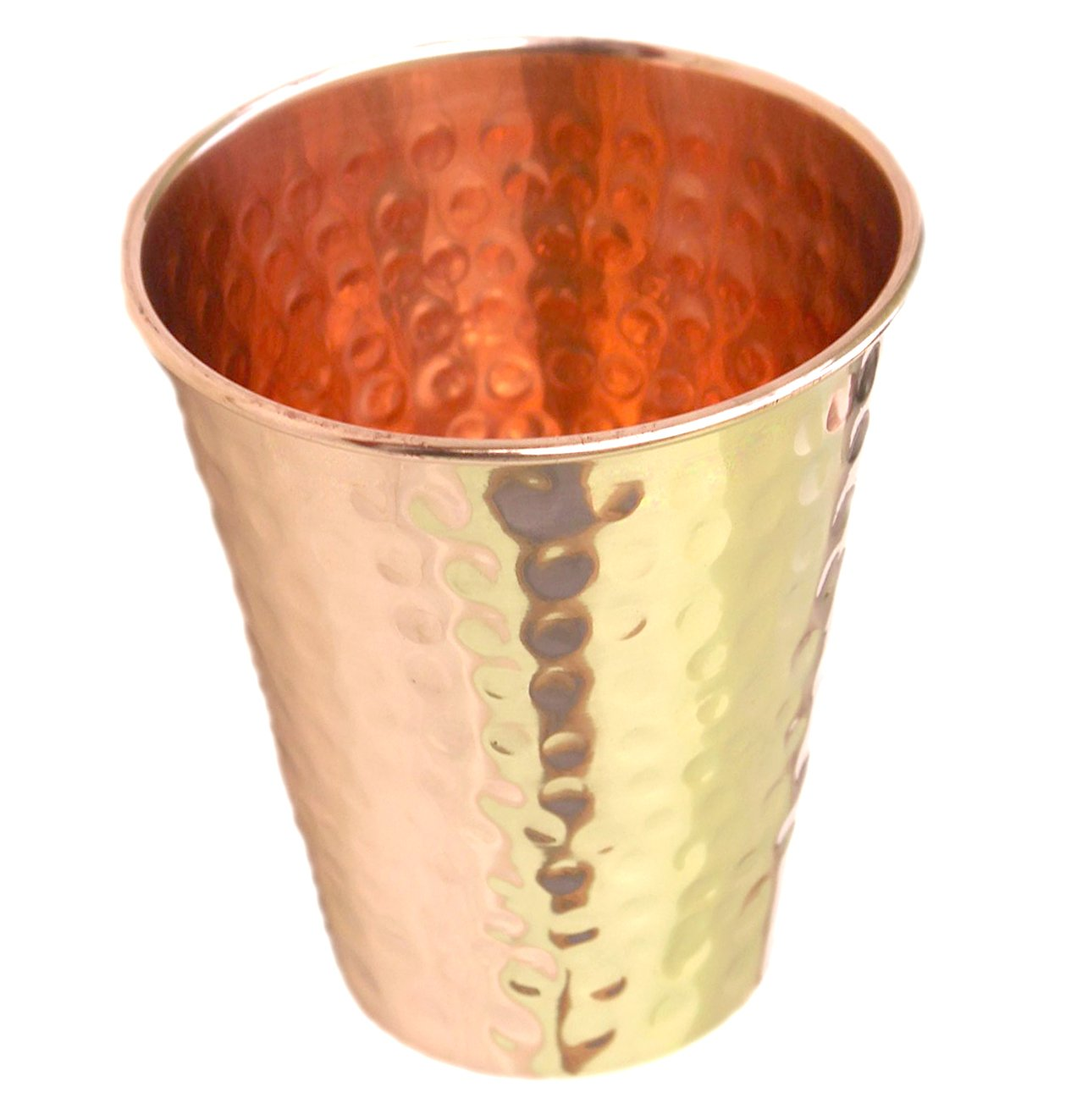 PARIJAT Handicraft Premium Quality Hammered Copper Tumbler - 100% Pure Hammered Copper Tumbler for Moscow Mules. PREMIUM-TUMBLER-86231