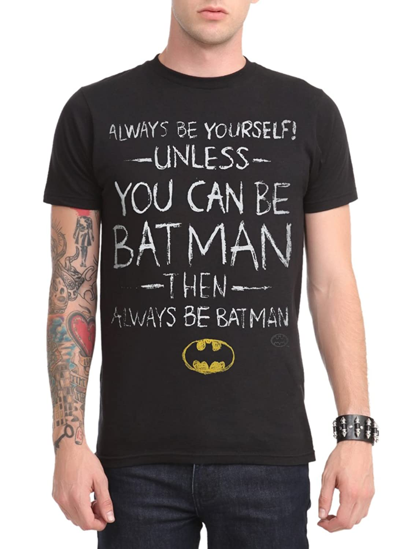 Amazon.com: DC Comics Batman Be Yourself T-Shirt: Clothing