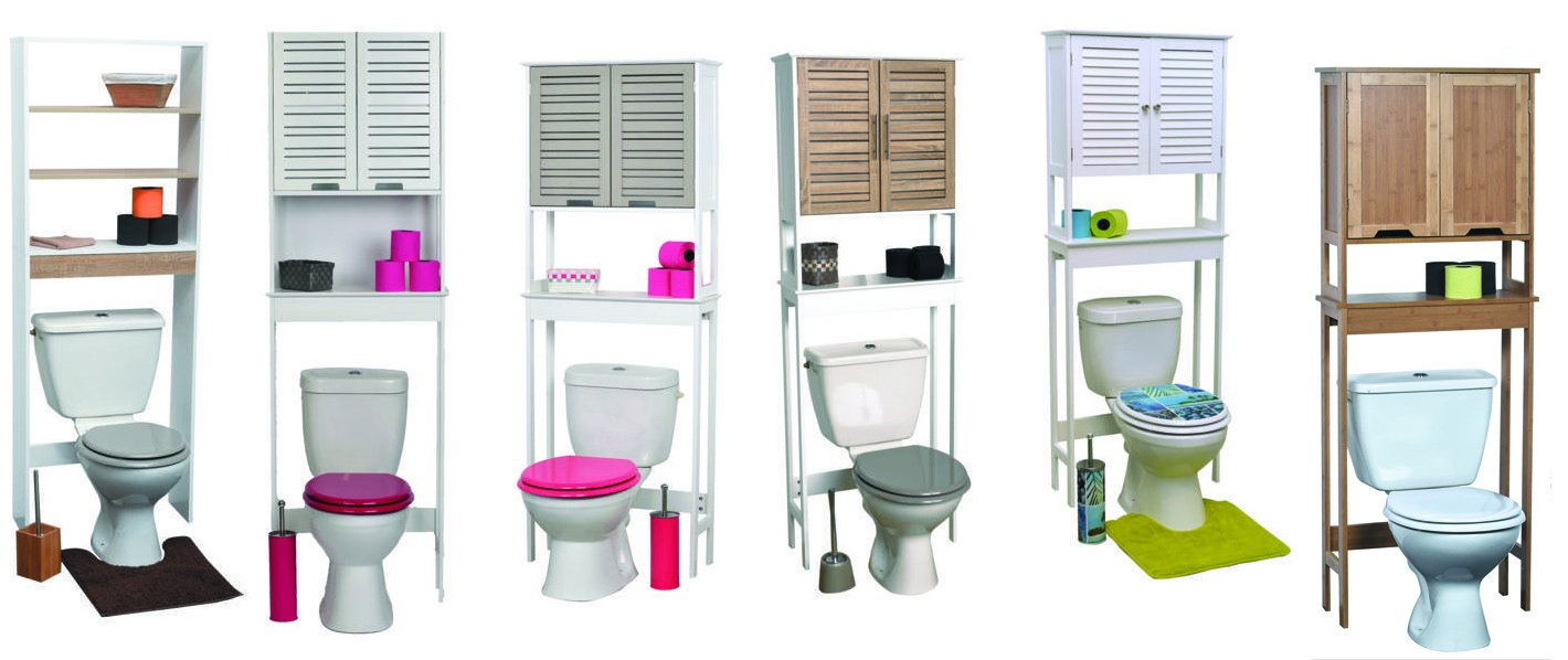 EVIDECO 9904309 Montreal 23.6''x66.5'' Free Standing Over The Toilet  Space Saver Cabinet by EVIDECO