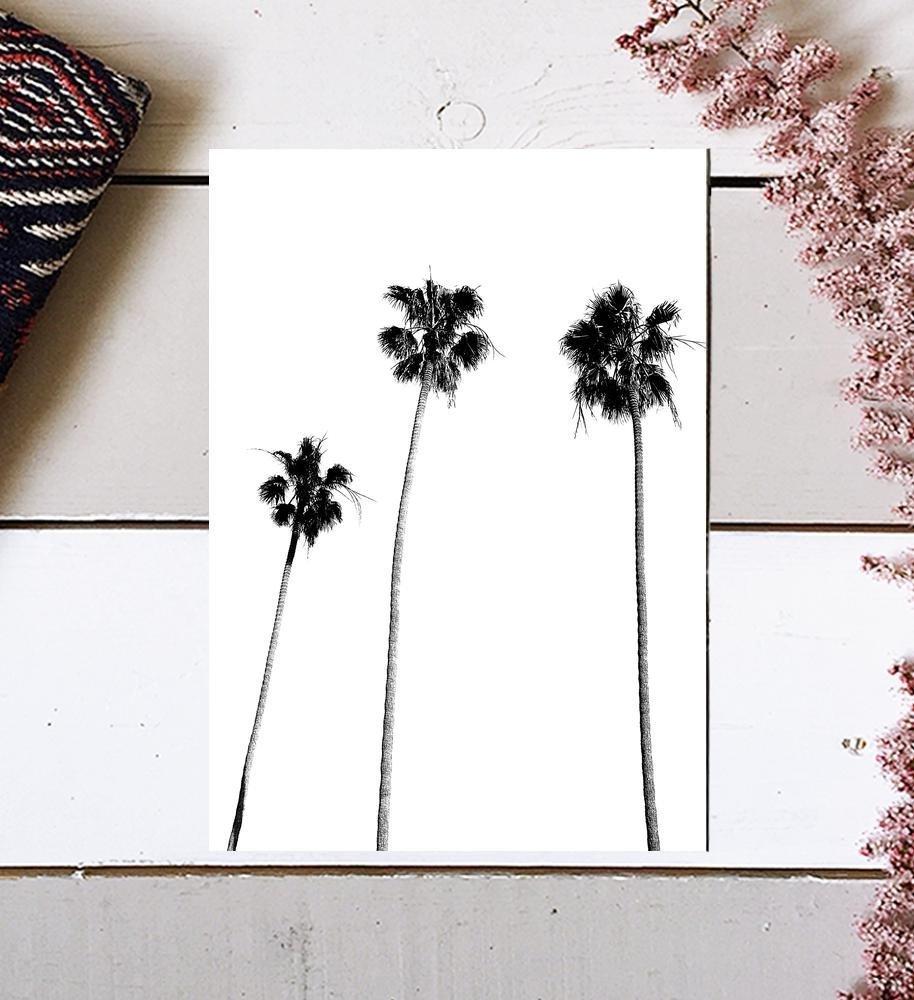 Palm Tree Print, Palm Print, Palm Tree Photography, Black and White, Palm, Palm Tree, Tropical Wall Art, Tropical Decor, Wall Decor, Black and White Palm Tree, Black Palm Tree, Minimalist, 8x10