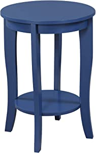 Convenience Concepts 7106259CBE, Cobalt Blue American Heritage Round End Table